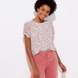 Floral Cinched Puff Sleeve Top | LOFT