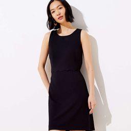 Scalloped Wrap Back Ponte Dress | LOFT
