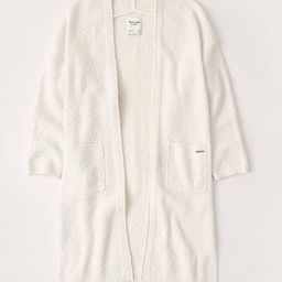 Textural Open-Front Cardigan | Abercrombie & Fitch US & UK