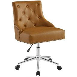 Regent Tufted Button Swivel Faux Leather Office Chair - Modway | Target