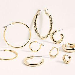 Gold Plated Hoop Earring Set | Free People (US)