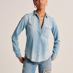 Womens Boyfriend Chambray Shirt | Womens | Abercrombie.com | Abercrombie & Fitch US & UK