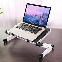 RAINBEAN Adjustable Laptop Stand Table for Office,Portable Lap Desk Stand Compatible Notebook Tab... | Amazon (US)