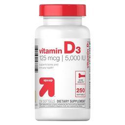 Vitamin D 5000IU Softgels - 250ct - Up&Up™   Target