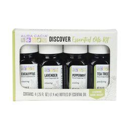 Aura Cacia Discover Essential Oils Kit - 4ct/0.25 fl oz | Target