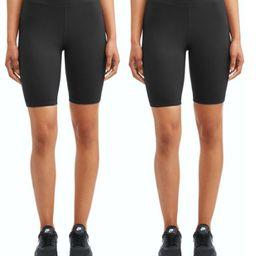 "Athletic Works Women's Active 9"" Basics Bike Short 2 Pack   Walmart (US)"