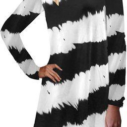 ZANZEA Women's Long Sleeve/Sleeveless T Shirt Dress Tie-dye Floral Print Tank Mini Dress | Amazon (US)