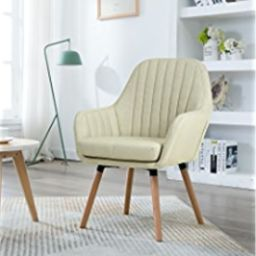 LSSBOUGHT Contemporary Indoor Muted Fabric Arm Chair, Accent Chair with Solid Wood Frame Legs (Gr...   Amazon (US)