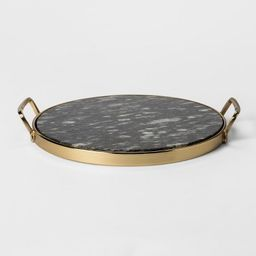 Decorative Round Tray - Gold/Black Marble - Project 62™ | Target
