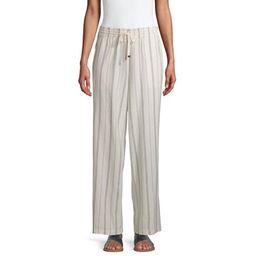 Time and Tru Women's Linen-Blend Pants   Walmart (US)