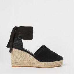 Suede wedge-heeled sandals   H&M (UK, IE, MY, IN, SG, PH, TW, HK, KR)