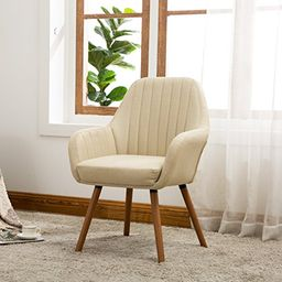 Roundhill Furniture Tuchico Contemporary Fabric Accent Chair, Tan | Amazon (US)