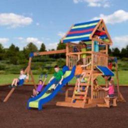 Backyard Discovery Beach Front Wooden Cedar Swing Set | Walmart (US)