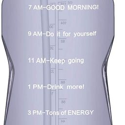 QuiFit 1 Gallon Water Bottle with Straw and Time Marker Leak Proof BPA Free Reusable Large Capaci...   Amazon (US)