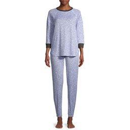 Secret Treasures Women's and Women's Plus Brushed Jersey Top and Joggers Sleep Set   Walmart (US)