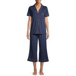 Secret Treasures Women's and Women's Plus Traditional Notch Collar Short Sleeve Tee and Capri Sle...   Walmart (US)