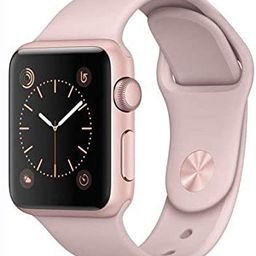 Apple Watch Series 1 Smartwatch 38mm Rose Gold Aluminum Case, Pink Sand Sport Band (Newest Model)... | Amazon (US)