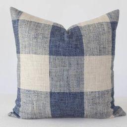 Gingham Blue Pillow Cover, Blue Pillow, Blue Pillow Covers, Throw Pillow, Decorative Pillow, Pill... | Etsy (US)