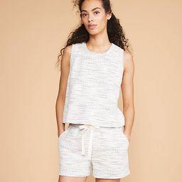Lou & Grey Mosaic Boucle Drawstring Shorts | LOFT | LOFT