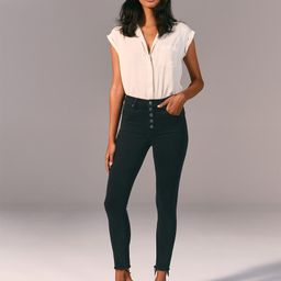 High Rise Super Skinny Ankle Jeans | Abercrombie & Fitch US & UK