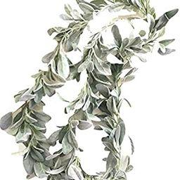 Elegant Blooms & Things Artificial Lamb's Ear Greenery Garland, 6 Ft Long | Amazon (US)