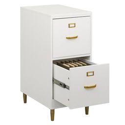 White Dahle 2-Drawer File Cabinet   Wayfair North America