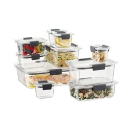 Rubbermaid Brilliance Food Storage Containers Set of 20   The Container Store