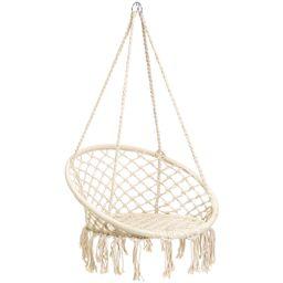 Best Choice Products Handmade Rope Hammock w/ Tassels - Beige - Walmart.com | Walmart (US)