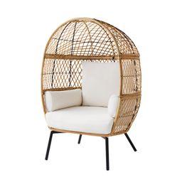 Better Homes & Gardens Ventura Stationary Outdoor Egg Chair - Walmart.com | Walmart (US)