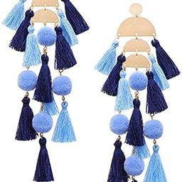 Bohemian Tassel Earrings for Women - Dangle Earrings Fringe Statement Earrings, Unique Gifts for ... | Amazon (US)