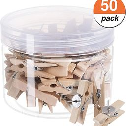 favide Favourde Push Pin with Wooden Clips Pushpins Tacks Thumbtacks for Cork Boards Artworks Not... | Amazon (US)