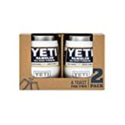 YETI Rambler 10 oz Stainless Steel Vacuum Insulated Wine Tumbler, 2 Pack, White   Amazon (US)