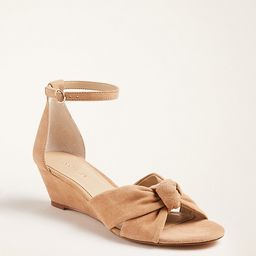 >Kaylin Suede Knot Wedge Sandals   Ann Taylor (US)