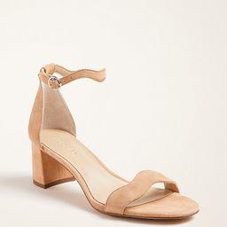 >Nicole Wavy Suede Block Heel Sandals   Ann Taylor (US)