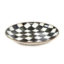 Courtly Check Enamel Dinner Coupe | MacKenzie-Childs