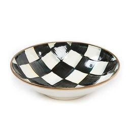 Courtly Check Enamel Soup Coupe | MacKenzie-Childs