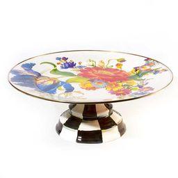 Flower Market Pedestal Platter - White | MacKenzie-Childs