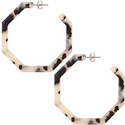 wowshow Acrylic Resin Hoop Earrings for Women Statement Fashion Geometric Octagon Earrings | Amazon (US)