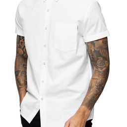 Muscle Fit Short Sleeve Button-Down Oxford Shirt | Nordstrom