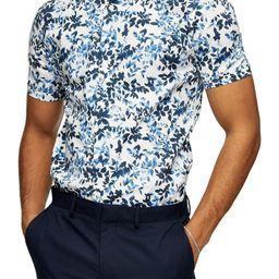 Blur Floral Slim Fit Short Sleeve Button-Up Shirt | Nordstrom