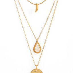 Engraved Pendant Necklace Set   Nordstrom