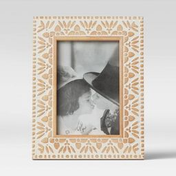 "4"" x 6"" Carved Wood Frame White - Opalhouse™ | Target"