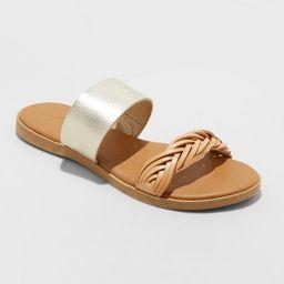 Women's Torri Two Band Slide Sandals - Universal Thread™   Target