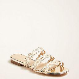 Minny Metallic Wavy Sandals | Ann Taylor | Ann Taylor (US)