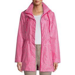 Me Jane Women's Gingham Rain Jacket with Hood   Walmart (US)