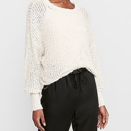 Fringe Open Stitch Pullover Sweater | Express