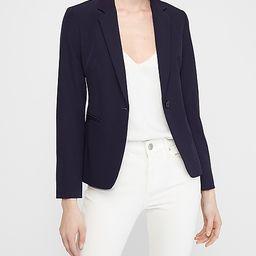 Soft Notch Collar One Button Blazer | Express