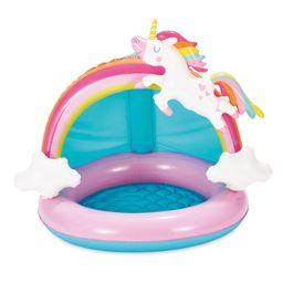"Summer Waves® Inflatable Unicorn Shade Pool, Cushioned Base, 47"" x 40"" x 38"" | Walmart (US)"