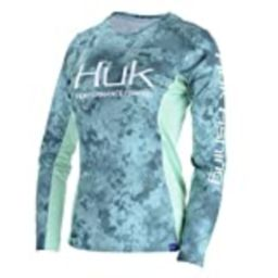 Huk Women's Camo Icon X Long Sleeve Shirt, Shallows, Small | Amazon (US)