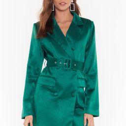 Satin Blazer Dress with V-Neckline | NastyGal (US & CA)